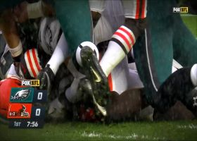 Browns win scrum for the football on key red-zone fumble recovery