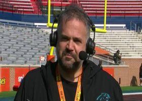 Matt Rhule talks about his experience so far at Senior Bowl practice