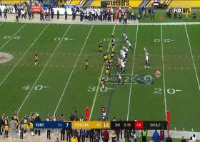 Bortles' first snap at QB for Rams is improvised third-down run from backup center's early snap