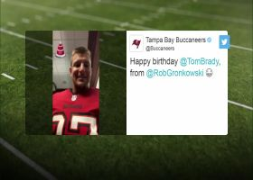 Gronk wishes Brady a happy 43rd birthday in Twitter video