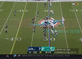 Fitzpatrick squeezes 15-yard dime to Mike Gesicki between two defenders