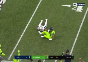 Russell Wilson drops perfect pass to Will Dissly for over-the-shoulder catch