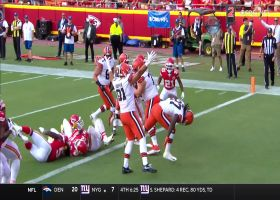 Kareem Hunt plows into the end zone for physical TD