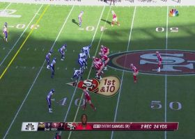 Jimmy G plants Anthony Barr on his back on 49ers' crazy trick play