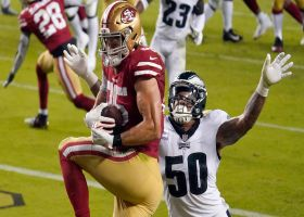 George Kittle's acrobatic TD catch lifts 49ers into the lead