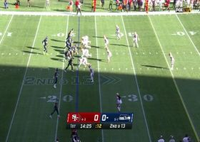 49ers engulf Russell Wilson for big loss on sack