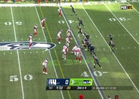 Tae Crowder chases down Russell Wilson for first NFL sack