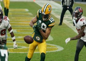 Aaron Rodgers' two-point pass dropped by Equanimeous St. Brown