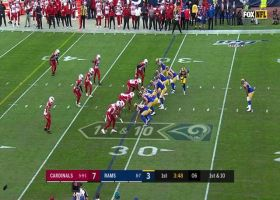 Goff connects with Tyler Higbee in stride for 18-yard gain on play action