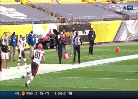 Mayfield finds Hooper on Y-leak for open 36-yard pickup