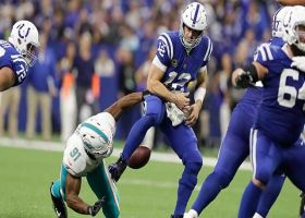 Wake's strip-sack is Colts' first allowed since Week 5