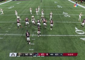 Matt Ryan floats pass to Graham after escaping Saints' pressure