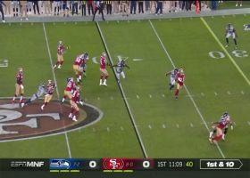 Tre Flowers chases down Jimmy G on CB blitz for sack