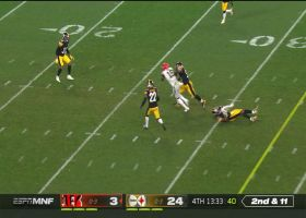 Auden Tate pinballs off Steelers defenders for 23 yards