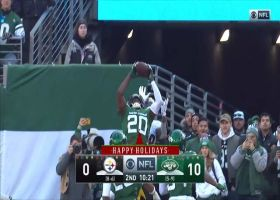 Marcus Maye looks like WR for toe-tapping end-zone INT