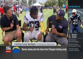 Los Angeles Chargers safety Derwin James breaks down going against Rams wide receivers at joint practice