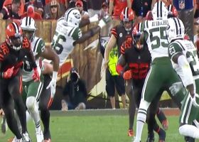 Pierre-Louis blocks punt, Jets gain possession in Browns territory