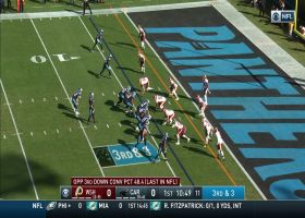 Curtis Samuel high-points Kyle Allen's pass in back of the end zone for TD