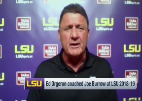 Ed Orgeron evaluates NFL debuts of Joe Burrow, Clyde Edwards-Helaire