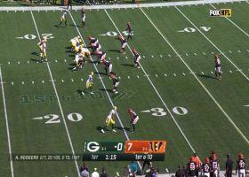 Davante Adams' front flip caps off 17-yard reception