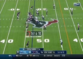Jordan Akins resembles human bulldozer on 20-yard catch and run