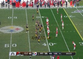JuJu Smith-Schuster climbs ladder for strong 33-yard grab on fourth-and-10