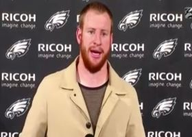 Wentz answers question about possibility of being benched for Hurts