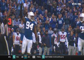 Buckner, Colts' pass rush surround Davis Mills on drive-ending sack