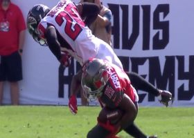 Kendall Sheffield brings the boom to tackle WR short on third down
