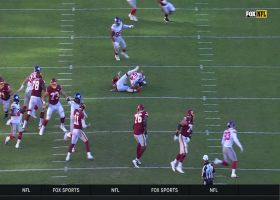 Alex Smith's throw lands in Blake Martinez's lap for INT after RB falls down