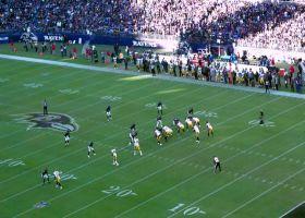 See Pittsburgh Steelers quarterback Ben Roethlisberger's pump fake to get Jesse James wide open   True View