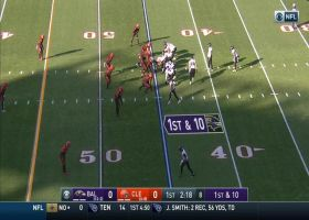 Porter Gustin recovers Ravens' fumbled exchange for key turnover