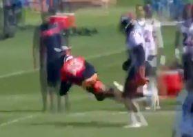 Rookie K.J. Hamler dives for deep catch at Broncos camp