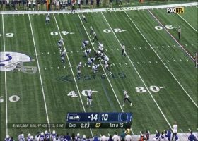 Russell Wilson can't escape Khari Willis, Colts on 10-yard sack