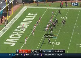B.J. Goodson launches in front of Mike Glennon's pass, prevents TD