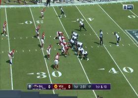 'Hollywood' Brown jukes defenders deep in Washington territory for 33-yard gain
