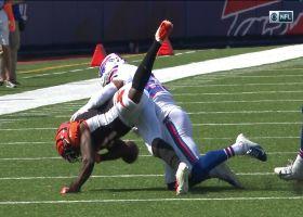 Micah Hyde rips ball away from John Ross, Bills recover fumble
