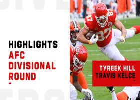 Best plays by Tyreek Hill, Travis Kelce vs. Browns | AFC Divisional Round