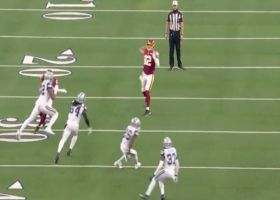 Former college QB Logan Thomas hits Terry McLaurin deep for 28 yards