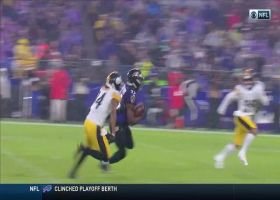 Gus Edwards bursts into Steelers' secondary for explosive 38-yard gain
