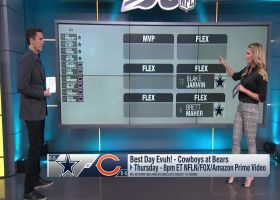 Cynthia Frelund projects top scorers for Cowboys-Bears on 'TNF'