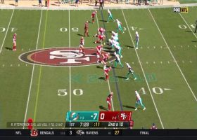 DeVante Parker shows outstanding concentration on contested sideline snag