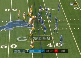 Will Harris charges through for HUGE sack on Rodgers
