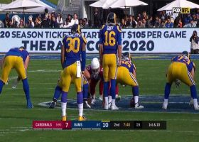 Budda Baker and Cassius Marsh combine to drop Jared Goff for sack