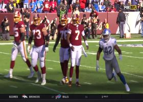 Tavon Wilson picks up Haskins' fumble for early recovery