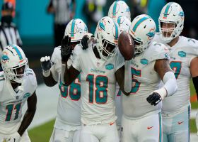 Preston Williams' dance moves on point after TD grab