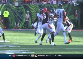 Ronnie Harrison jumps in front of Tyler Boyd for INT
