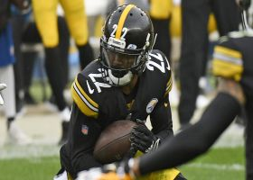 Steelers sprint to end-zone camera after Steven Nelson's diving INT