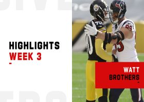 Every play made by the Watt brothers in Texans-Steelers | Week 3