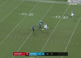 Donte Jackson recovers muffed punt after it pinballs off Ray-Ray McCloud